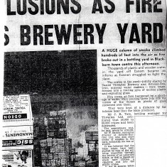Fire Thwaites Brewery Yard Blackburn