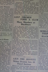 A.R.P Auxiliary Firemen Form A Club