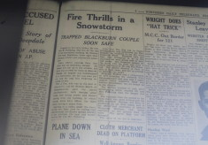 Fire Thrills In Snowstorm