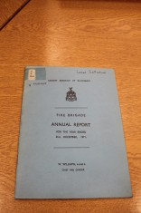 Fire Brigade Annual Report 1971