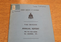 Fire Brigade Annual Report 1971
