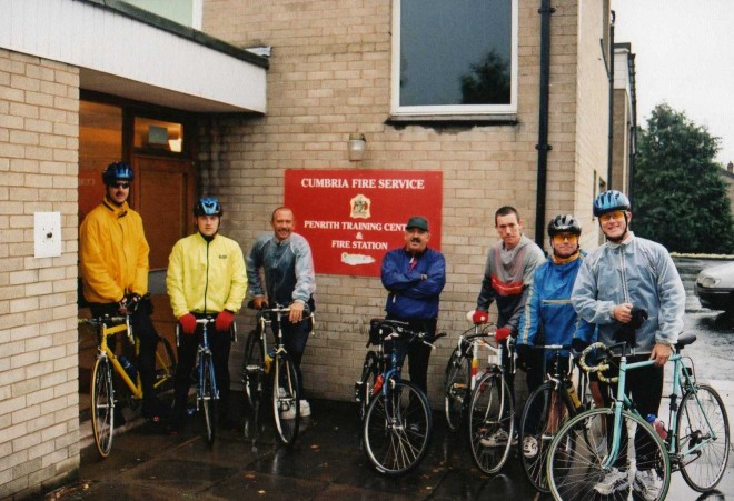 Penrith fire station, who we were very grateful to for allowing us to use the station to rest our weary bones over night
